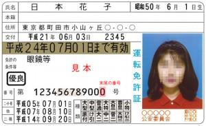 免許証の末尾番号